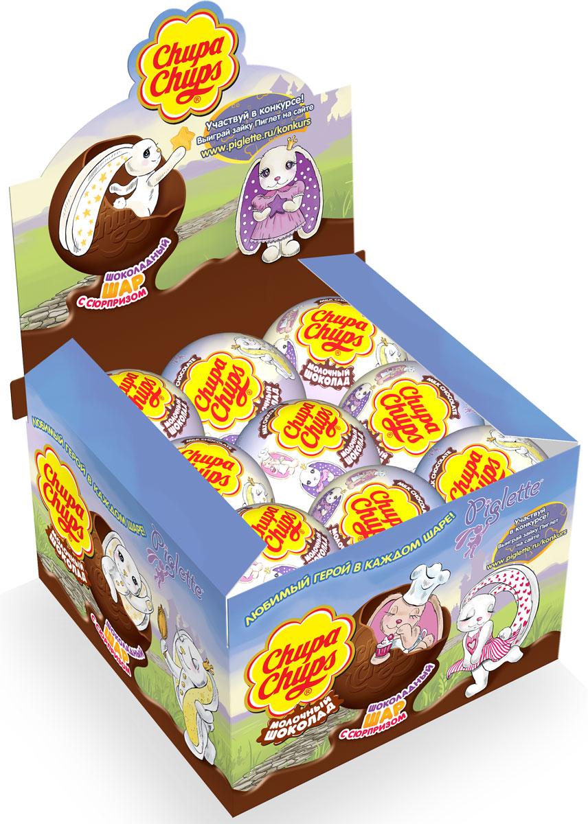 Chupa-Chups Piglette (Зайки) молочный шоколад, 18 шт по 20 г дино парк молочный шоколад с сюрпризом 18 шт по 25 г