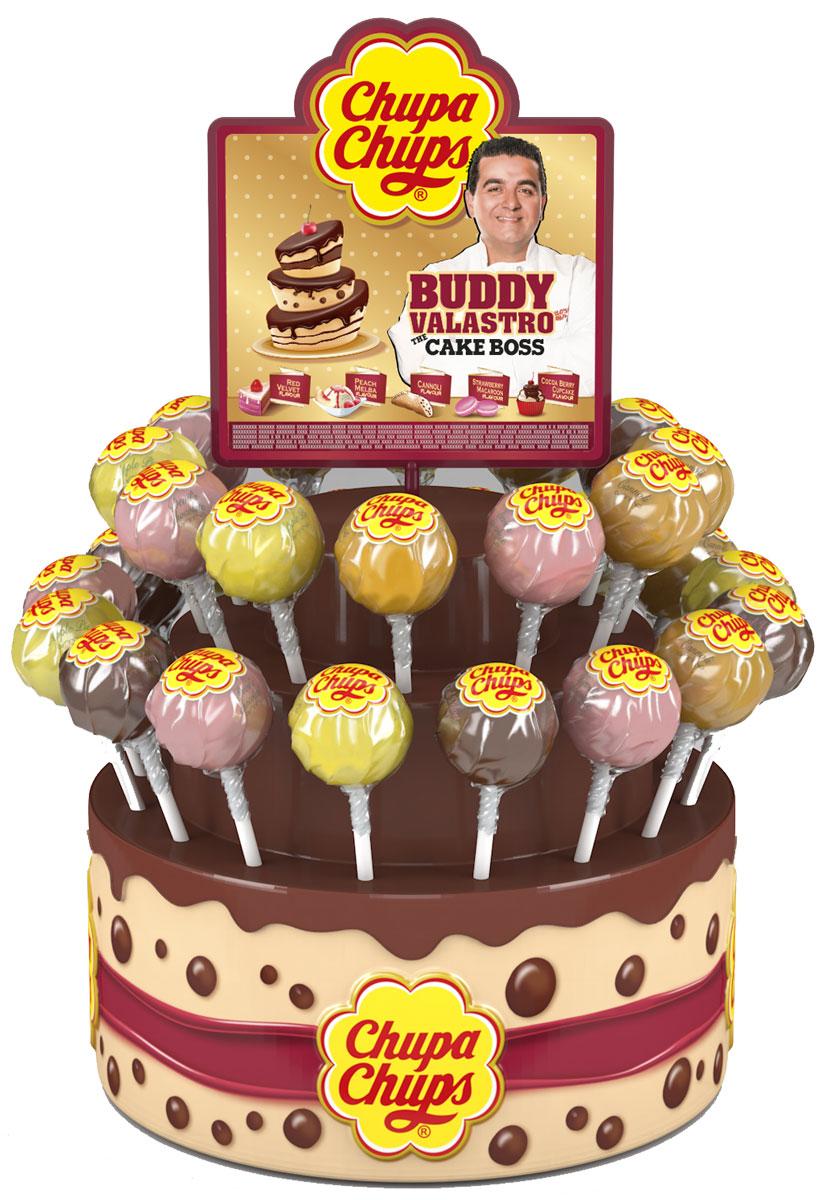 Chupa-Chups XXL Petit ассорти карамель, 50 шт по 29 г0120710Новый Chupa-Chups XXL с незабываемыми и любимыми вкусами тортиков, пирожных и капкейков.
