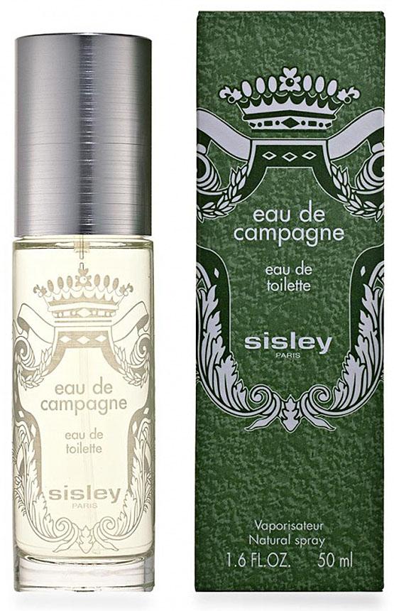Sisley Eau de Campagne Men туалетная вода, 50 млMNA-100BШипровые, цветочные. Бергамот, мускус, пачули, слива, базилик, ветивер, гальбанум, дубовый мох, жасмин, герань, ландыш, лимон, листья томатов.