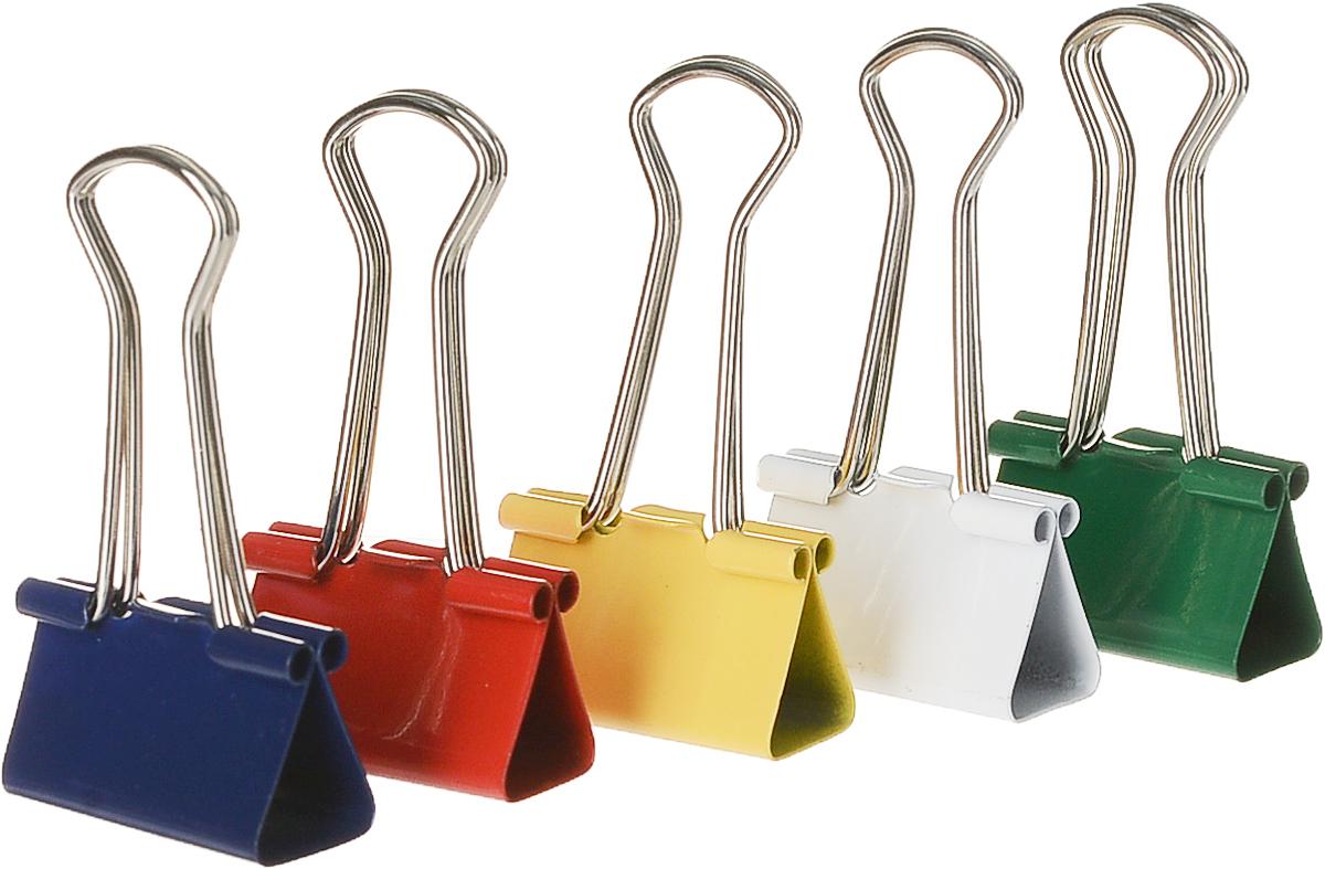 Зажимы для бумаг Erich Krause, цвет синий зеленый желтый белый красный, 25 мм, 12 штFS-00103Металлические зажимы Erich Krause серого, красного и синего цветов предназначены для временного скрепления до 110 листов стандартной бумаги. Зажимы для бумаг не мнут документы, не оставляют следов, имеют удобные ушки.Характеристики:Материал:металл, пластик. Ширина зажима:25 мм. Количество:12 шт. Размер упаковки: 8,5 см х 4,5 см х 2,5 см. Изготовитель: Китай.