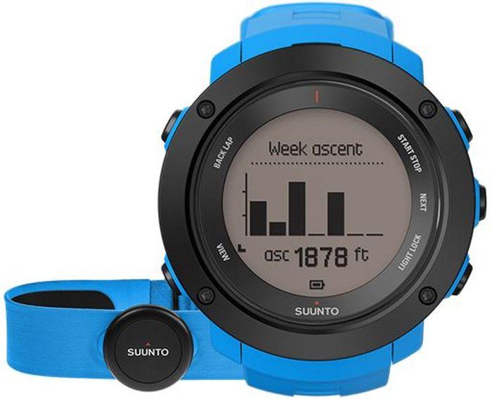 Часы спортивные Suunto Ambit3 Vertical HR, цвет: голубойALC-MB10-3CALRU1-1Некоторые назовут это одержимостью, мы же называем это целеустремленностью. Suunto Ambit3 Vertical — это больше, чем просто GPS-часы для многоборья. Прокладывая путь вверх по горам, следуйте профилю высоты своего маршрута. Следите за общим набором высоты за год по ежедневным подъемам. Планируйте тренировки с помощью приложения Suunto Movescount и получайте виброоповещения на часы во время тренировок. Переживайте свой опыт заново и делитесь им с помощью приложения Suunto Movescount. МНОГОБОРЬЕ15 часов работы от батареи с 5-секундной GPS-точностью (1-минутная точность: 100 часов) Скорость, темп и расстояние Высотомер с технологией FusedAlti™ Навигация по маршруту и обратный путь Компас Запись частоты сердцебиения при плавании** Мощность при езде на велосипеде (технология Bluetooth Smart) Информация о нескольких видах спорта в одной тренировке Планировщик интервальных тренировок* Расчет времени восстановления на основе уровня активности Тест быстрого восстановления и тест восстановления во время сна (Firstbeat)** Тренировочные программы Movescount на часах Расширение возможностей с помощью приложений Suunto App Языки: английский, чешский, датский, немецкий, испанский, финский, французский, итальянский, японский, корейский, голландский, норвежский, польский, португальский, русский, шведский, китайскийПЛАНИРОВАНИЕ И ОТСЛЕЖИВАНИЕ СОВОКУПНОГО ПОДЪЕМАПланировщик маршрутов с поддержкой топографической карты*** Находите новые маршруты с помощью теплокарт на сайте Suunto Movescount и в приложении Suunto Movescount App Визуализация профиля высот и совокупного подъема*** Профиль высоты маршрута в часах Уведомления вибрацией в часах Отображение крутизны склона в реальном времени**** Общий набор высоты за день, за неделю, за месяц и за год Совместим с Stryd Running Powermeter Совместим с датчиками Bluetooth SmartПЕРЕЖИТЬ ЗАНОВО И ПОДЕЛИТЬСЯМобильные уведомления* Добавляйте снимки своих действий Moves в Moves