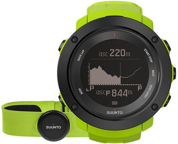 Часы спортивные Suunto Ambit3 Vertical HR, цвет: светло-зеленыйDRIW.611.INНекоторые назовут это одержимостью, мы же называем это целеустремленностью. Suunto Ambit3 Vertical — это больше, чем просто GPS-часы для многоборья. Прокладывая путь вверх по горам, следуйте профилю высоты своего маршрута. Следите за общим набором высоты за год по ежедневным подъемам. Планируйте тренировки с помощью приложения Suunto Movescount и получайте виброоповещения на часы во время тренировок. Переживайте свой опыт заново и делитесь им с помощью приложения Suunto Movescount. МНОГОБОРЬЕ15 часов работы от батареи с 5-секундной GPS-точностью (1-минутная точность: 100 часов) Скорость, темп и расстояние Высотомер с технологией FusedAlti™ Навигация по маршруту и обратный путь Компас Запись частоты сердцебиения при плавании** Мощность при езде на велосипеде (технология Bluetooth Smart) Информация о нескольких видах спорта в одной тренировке Планировщик интервальных тренировок* Расчет времени восстановления на основе уровня активности Тест быстрого восстановления и тест восстановления во время сна (Firstbeat)** Тренировочные программы Movescount на часах Расширение возможностей с помощью приложений Suunto App Языки: английский, чешский, датский, немецкий, испанский, финский, французский, итальянский, японский, корейский, голландский, норвежский, польский, португальский, русский, шведский, китайскийПЛАНИРОВАНИЕ И ОТСЛЕЖИВАНИЕ СОВОКУПНОГО ПОДЪЕМАПланировщик маршрутов с поддержкой топографической карты*** Находите новые маршруты с помощью теплокарт на сайте Suunto Movescount и в приложении Suunto Movescount App Визуализация профиля высот и совокупного подъема*** Профиль высоты маршрута в часах Уведомления вибрацией в часах Отображение крутизны склона в реальном времени**** Общий набор высоты за день, за неделю, за месяц и за год Совместим с Stryd Running Powermeter Совместим с датчиками Bluetooth SmartПЕРЕЖИТЬ ЗАНОВО И ПОДЕЛИТЬСЯМобильные уведомления* Добавляйте снимки своих действий Moves в Moves