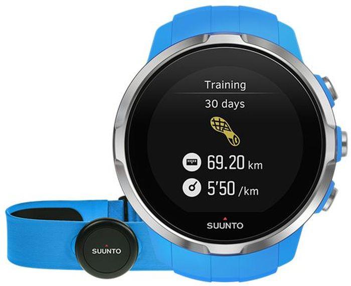 Часы спортивные Suunto  Spartan Sport HR , цвет: голубой - Умные часы