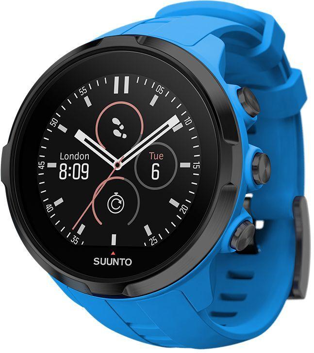 Часы спортивные Suunto Spartan Sport Wrist HR, цвет: голубой529-ORANGESuunto Spartan Sport Wrist HR — это продвинутые GPS-часы для мультиспорта с наручным пульсометром, цветным сенсорным экраном, водонепроницаемостью до 100 м и до 12 ч работы батареи в режиме тренировки. Spartan Sport поставляется с 80 предустановленными спортивными режимами с широким набором показателей по видам спорта. Отслеживайте свой прогресс и тренируйтесь с умом, опираясь на данные спортивного сообщества Suunto Movescount. Все часы Spartan Sport произведены вручную в Финляндии. ГОТОВЫ К СОРЕВНОВАНИЯМВодонепроницаемость до глубины 100 м / 300 фт Срок работы батареи 8 часов в режиме максимальной мощности и при частоте обновления GPS 1 c, обеспечивающей наивысшую точность Срок работы батареи 12 часов в режиме экономной работы при частоте обновления GPS 1 c, обеспечивающей хорошую точность Защищенный цветной сенсорный экран с тремя кнопками GPS/GLONASS для навигации по маршруту и определения расположенияследование маршруту в реальном времени с маршрутом и точками POIGPS используется для отслеживания набора или снижения высоты в тренировке Цифровой компас с компенсацией склонения ОПЫТ СПОРТИВНЫХ ДОСТИЖЕНИЙИзмерение пульса на запястье для максимального удобства Совместимы с датчиком Suunto Smart SensorПоддержка более 80 видов спорта в режимах соревнований и интервальной тренировки Режим триатлона и мультиспорта Настройка интервальных тренировок на часах Бег: таблица пройденных этапов со сведениями о темпе бега и частоте сердцебиения; точное измерение темпа с технологией FusedSpeed™ поддержка датчика Stryd для оценки затрат мощности при беге Велосипедная гонка: таблицы этапов в реальном времени с пульсом, мощностью и скоростью поддержка измерителей мощности Suunto Bike Sensor и BLE Плавание: автоматическое построение интервалов при плавании в бассейне сохранение данных о частоте сердцебиения (доп.) АНАЛИЗ ТРЕНИРОВОКТренировочная нагрузка: общие сведения о тренировках за 30 дней на часах долговременн