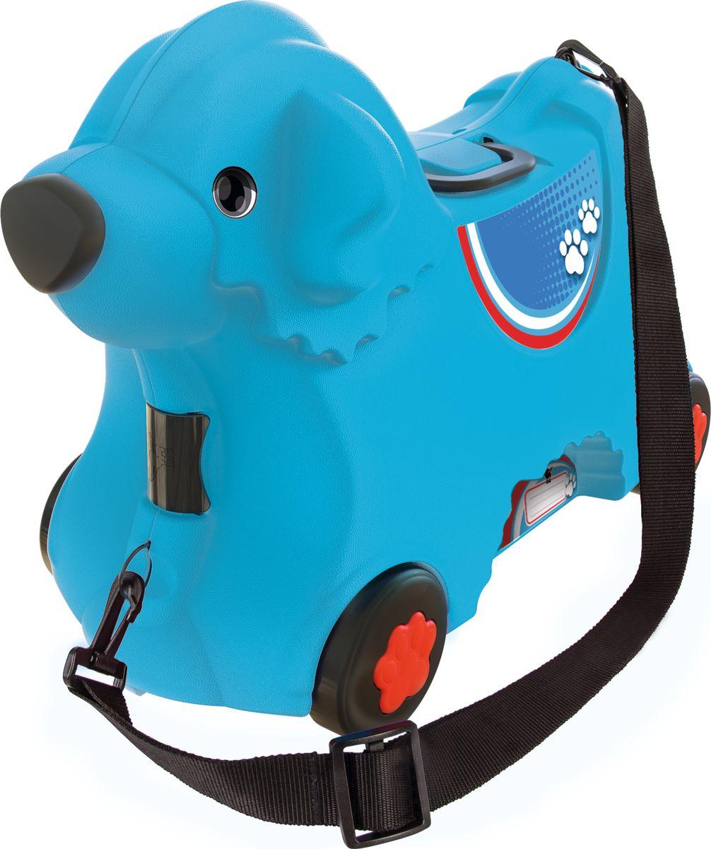 Big Чемодан детский цвет синий55352Уникальный и продуманный дизайн. Выдерживает вес ребенка до 50 кг, Объем чемодана 15 литров, Размер соответствует размерам для ручной клади большинства авиакомпаний, Регулируемый и съемный ремень, Замок в виде носа, Ручки складываются в сидение, Широкие колеса, Именное поле.