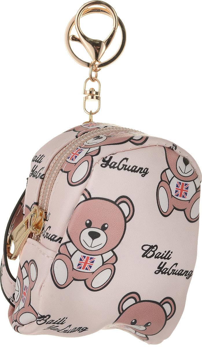 Кошелек-брелок женский Good Mood Рюкзачок Мишка, цвет: розовый. 0213495350нМилый рюкзачок с принтом из Мишек будет прекрасным подарком для активных девушек, которые ценят стиль и комфорт одновременно. Несмотря на небольшой размер ,вы с легкостью можете носить в нем самые важные предметы: от ключей, кредитных карт до помады. Характеристики: 9х8 см Оснащен кольцом для ключей. Применение: модный аксессуар, брелок, кошелек, ключница