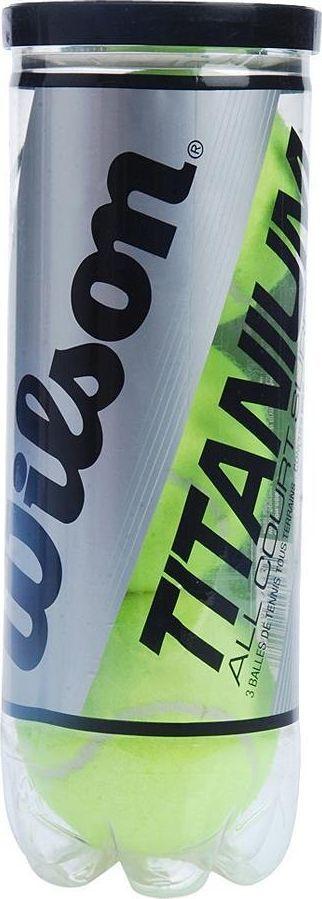 Набор теннисных мячей Wilson Titanium, 3 штTB-03Теннисные мячи Wilson Titanium оснащены титановым сердечником, который сжимается два раза сложнее, чем обычных мячах, тем самым увеличивая прочность. Эти мячи одинаково подходят для всех видов покрытий кортов.Уважаемые клиенты! Обращаем ваше внимание на возможные изменения в дизайне упаковки. Поставка осуществляется в зависимости от наличия на складе.
