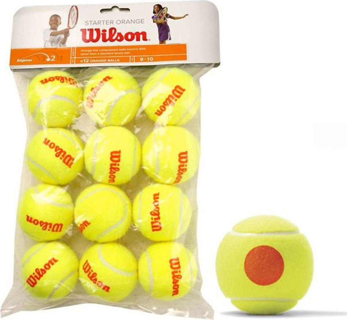 Мячи Wilson Starter Orange, 12 шт332515-2800Тренировочный мяч высокого качества Wilson Starter Orange, WRT137200 подходит для соревнований тренировок детей возрасте от до 10 лет. Данный мяч одобрен ITF (Международная Федерация Тенниса). Мячи Wilson Starter Play это линейка специально разработанных мячей для юных спортсменов возрасте от до 16 лет.Мячи выполнены из высококачественного фетра дополнительной влагоотталкивающей пропиткой, благодаря чему вы сможете играть этим мячом на непросохшем покрытии кортаНа 50 меньше скорость отскока (стандартный размер корта 19м 5,6м-8,2м)В упаковке 12 мячейИндивидуальная упаковка