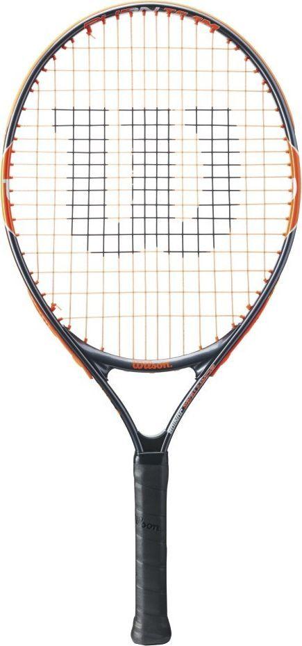 Теннисная ракетка Wilson Burn Team 23, детскаяBP7729Ракетка Wilson Burn 23Ракетка для юного игрока.Технические характеристики:Поперечное сечение: 20,5 мм BeamВес: 195Длина: 21,0000