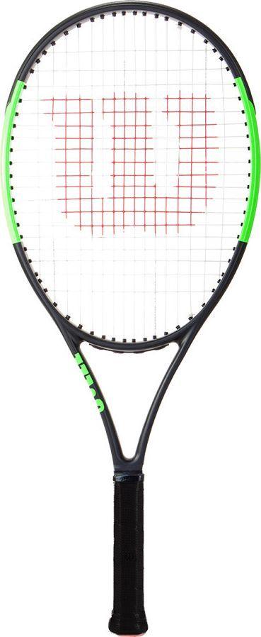 Ракетка теннисная Wilson Blade 25, детскаяWRT533600Детская теннисная ракетка Wilson Blade 25 предназначена для юниоров. Она достаточно легкая, поэтому руки юного спортсмена не будут уставать слишком быстро. Особые технические параметры инструмента позволяют теннисисту быстрее получать необходимые навыки и взбираться вверх по карьерной лестнице. Производитель использовал специальную аэродинамическую раму, которая делает замах еще более простым, но при этом сохраняет его мощность. Ракетка отличается высоким контролем над мячом, поэтому вам будет проще отрабатывать удары.Баланс (со струной): 32 смВес (со струной): 261 гДлина: 63,5 см.Материал: высокомодульный графит.Струнная формула: 16 х 19 см.