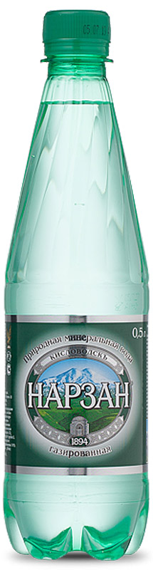 Нарзан вода газированная, 0,5 л вода минеральная нарзан без газа 1 л 6шт