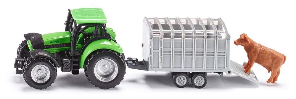 Siku Трактор Deutz Agrotron с прицепом для скота magirus deutz продажа в белоруссии