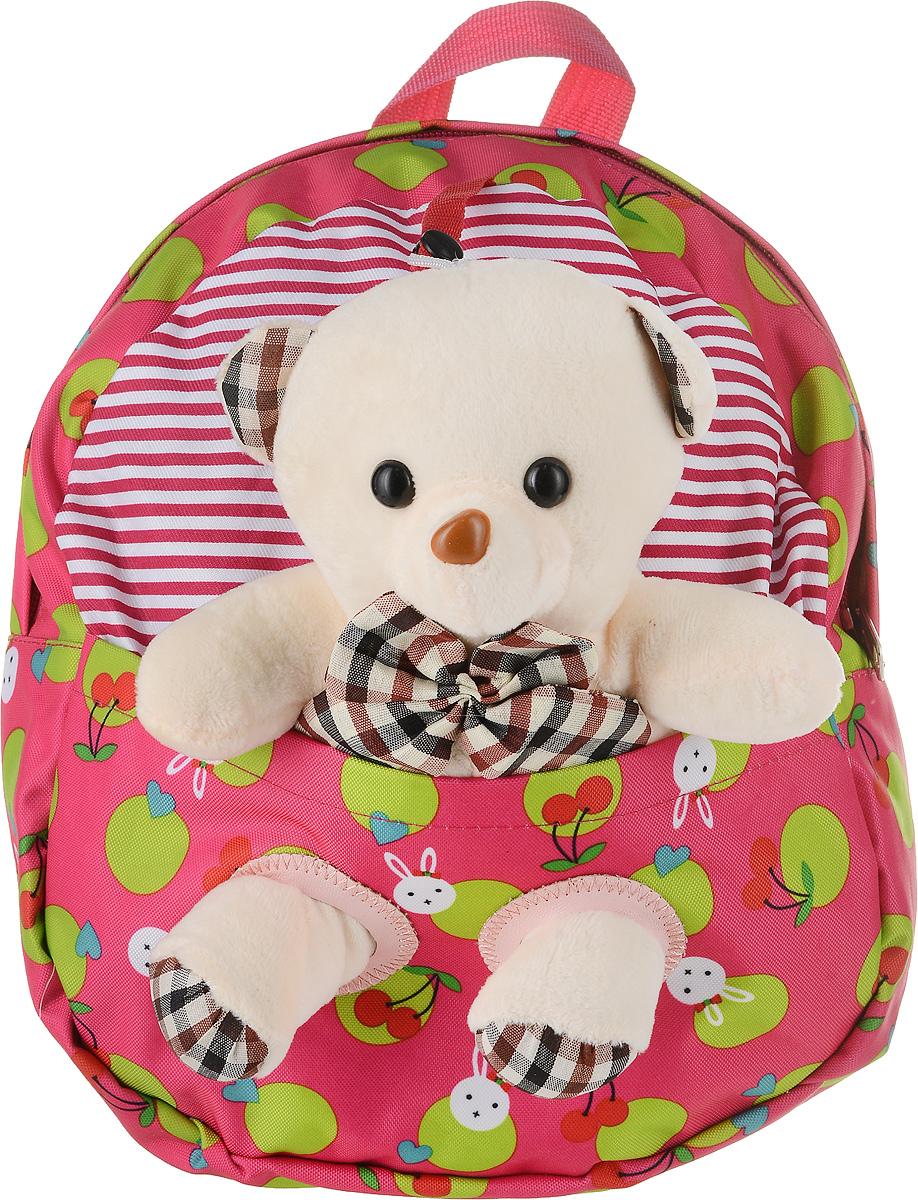 Рюкзак детский Good Mood, цвет: малиновый. 729S76245Яркий детский рюкзак с игрушкой GOOD MOOD изготовлен специально для детей дошкольного возраста. Рюкзак оснащен регулируемыми лямками, плотной спинкой и украшен игрушкой в виде Мишки.Игрушка легко снимается и может использоваться отдельно от рюкзака. Мишка станет настоящим другом вашего малыша, доставляя при этом ему массу положительный эмоций. Рюкзак идеально подойдет для похода в садик, на прогулку, в гости и т.д. Состав: 100% хб, подкладка-100% полиэстер, игрушка-100% полиэстер Цвет: Малиновый Для детей от 3 лет. Вместительность 0,3 л. Количество отделений : 1 Оригинальный дизайн