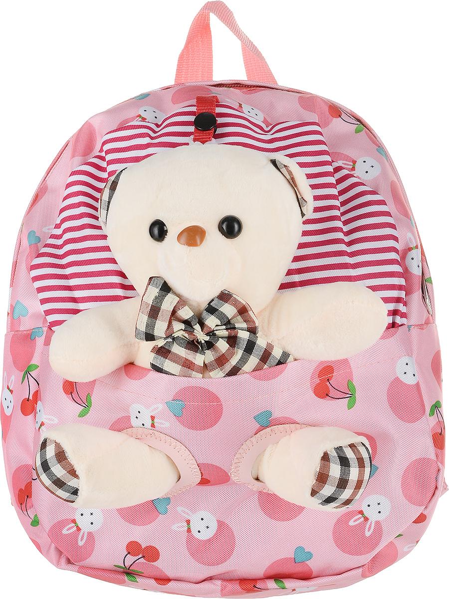 Рюкзак детский Good Mood, цвет: розовый. 074371069с-2Яркий детский рюкзак с игрушкой GOOD MOOD изготовлен специально для детей дошкольного возраста. Рюкзак оснащен регулируемыми лямками, плотной спинкой и украшен игрушкой в виде Мишки.Игрушка легко снимается и может использоваться отдельно от рюкзака. Мишка станет настоящим другом вашего малыша, доставляя при этом ему массу положительный эмоций. Рюкзак идеально подойдет для похода в садик, на прогулку, в гости и т.д. Состав: 100% хб, подкладка-100% полиэстер, игрушка-100% полиэстер Цвет: Розовый Для детей от 3 лет. Количество отделений : 1 Оригинальный дизайн