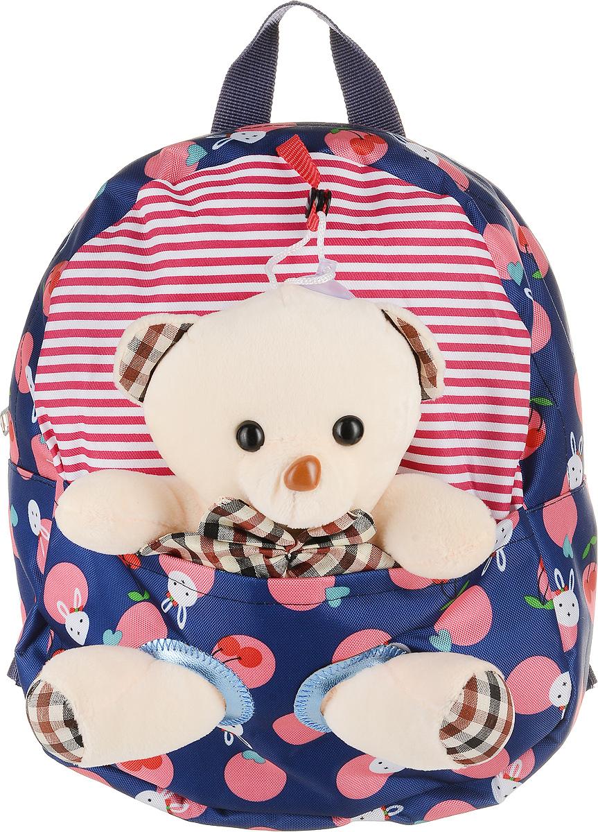 Рюкзак детский Good Mood, цвет: синий. 70523008Яркий детский рюкзак с игрушкой GOOD MOOD изготовлен специально для детей дошкольного возраста. Рюкзак оснащен регулируемыми лямками, плотной спинкой и украшен игрушкой в виде Мишки.Игрушка легко снимается и может использоваться отдельно от рюкзака. Мишка станет настоящим другом вашего малыша, доставляя при этом ему массу положительный эмоций. Рюкзак идеально подойдет для похода в садик, на прогулку, в гости и т.д. Состав: 100% хб, подкладка-100% полиэстер, игрушка-100% полиэстер Цвет: Синий Для детей от 3 лет. Вместительность :0,3 л. Количество отделений : 1 Оригинальный дизайн