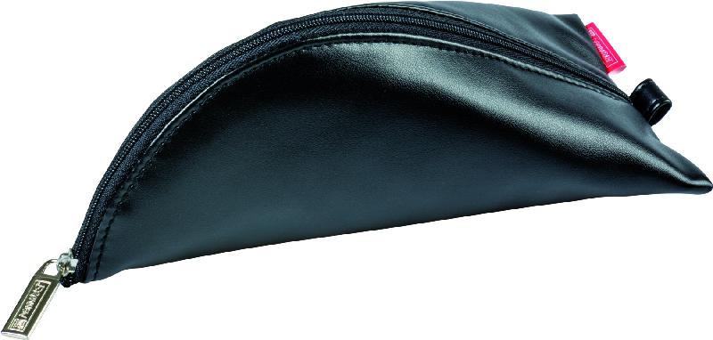 Brunnen Пенал на молнии цвет черный 19 х 10 см72523WDМягкий кожезаменитель,- тканеваяя подкладка,- черный,- 19х10 см.