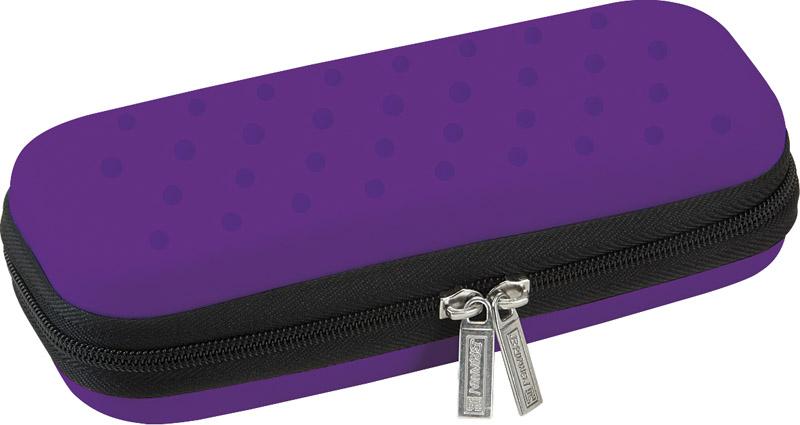 Brunnen Пенал на молнии цвет фиолетовый72523WD3 отделения для ручек1 карман для мелочейМатериал - этиленвинилацетатПоставляется без наполнения