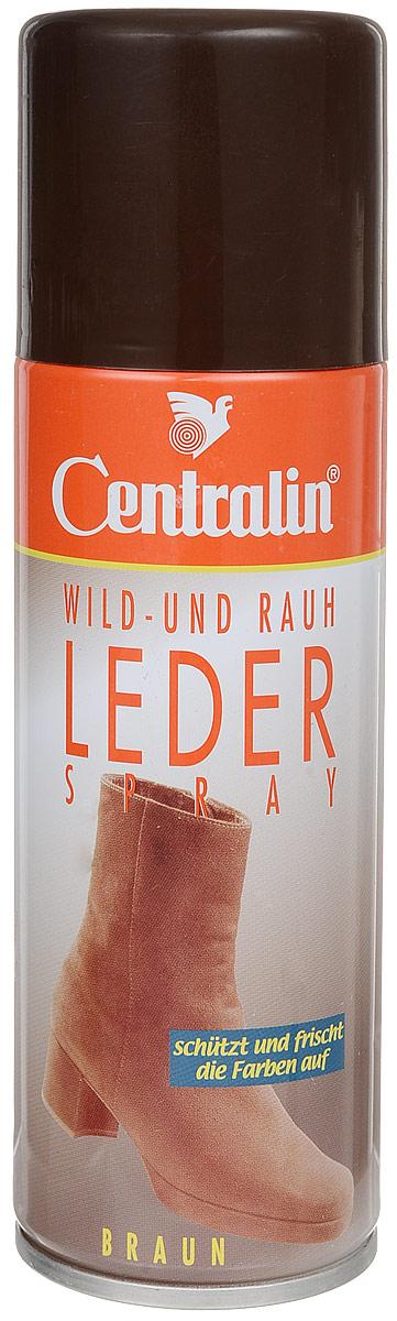 Аэрозоль для пропитки кожи, замши и нубука Centralin, 200 млMW-3101Аэрозоль Centralin - идеальное средство для ухода и освежения изделий из кожи, замши и нубука. Восстанавливает внешний вид изделий и делает кожаные поверхности водоотталкивающими и невосприимчивыми к грязи и дождю. Аэрозоль Centralin не склеивает ворсистую материю и делает велюр, нубук и замшу глубокими по цвету и мягкими, как бархат.Товар сертифицирован.