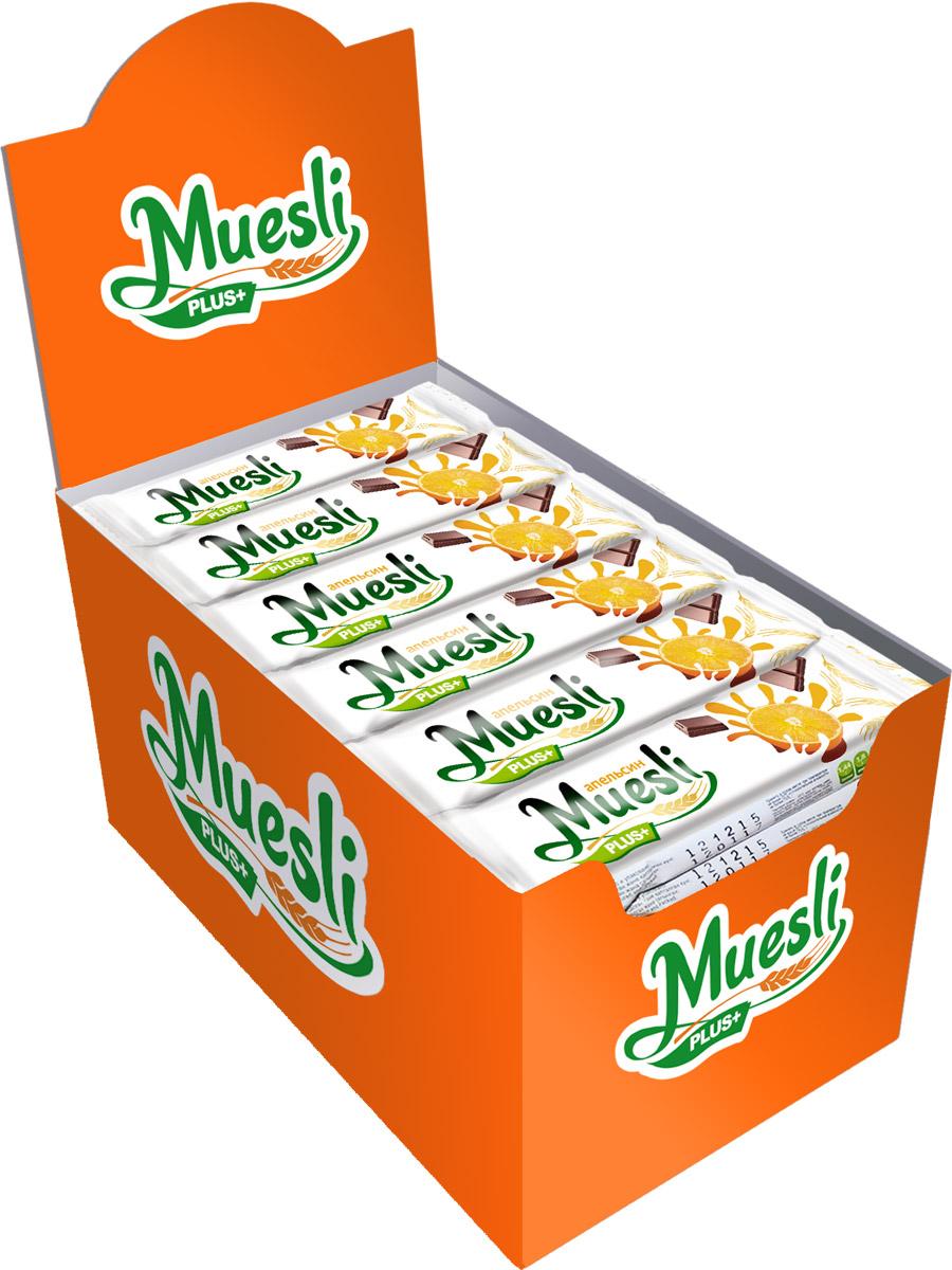 Matti Muesli Plus батончик мюсли апельсин, 36 шт по 24 гУТ-00000075Батончики-мюсли Muesli Plus+ обладают сбалансированным составом и являются продуктом переработки натуральных злаков, здоровым и полезным источником сил и энергии. Содержат злаки, натуральные кусочки апельсина. В состав входит натуральный ароматизатор.