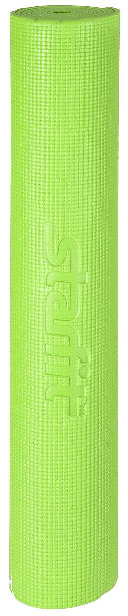 Коврик для йоги Starfit  FM-102 , цвет: зеленый, 173 х 61 х 0,6 см - Инвентарь