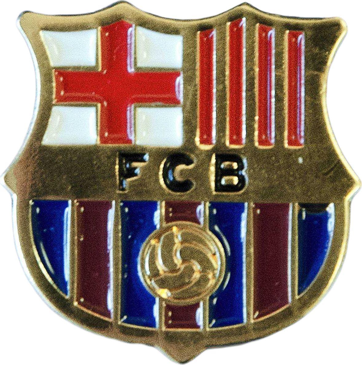 Значок Atributika & Club Barcelona, цвет: красный, синий. 1932019320Значок Atributika & Club выполнен из металла в виде символики вашего любимого клуба. Значок дополнен застежкой цанга-бабочка. Застежка представляет собой диск, который фиксируется на гвозде за счет фиксатора. Длина: 2 см.