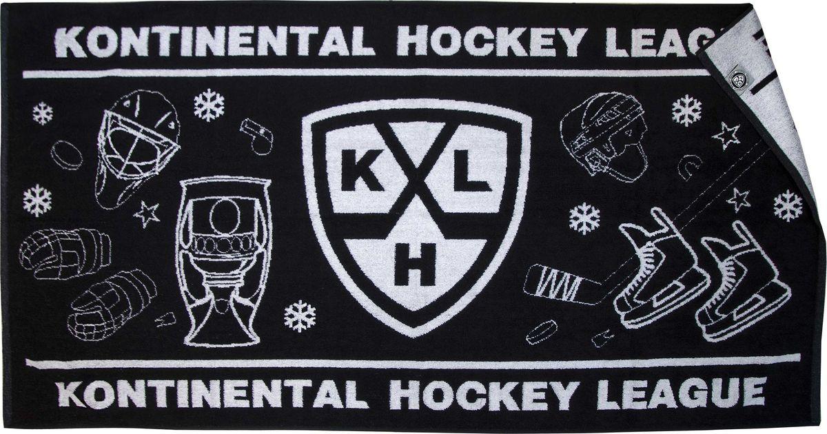 Полотенце Atributika & Club КХЛ, цвет: черный, 70 х 140 см. 2631257030Полотенце Atributika & Club выполнено из натурального хлопка и оформлено символикой и надписями вашего любимого клуба.Размер: 70 x 140 см.