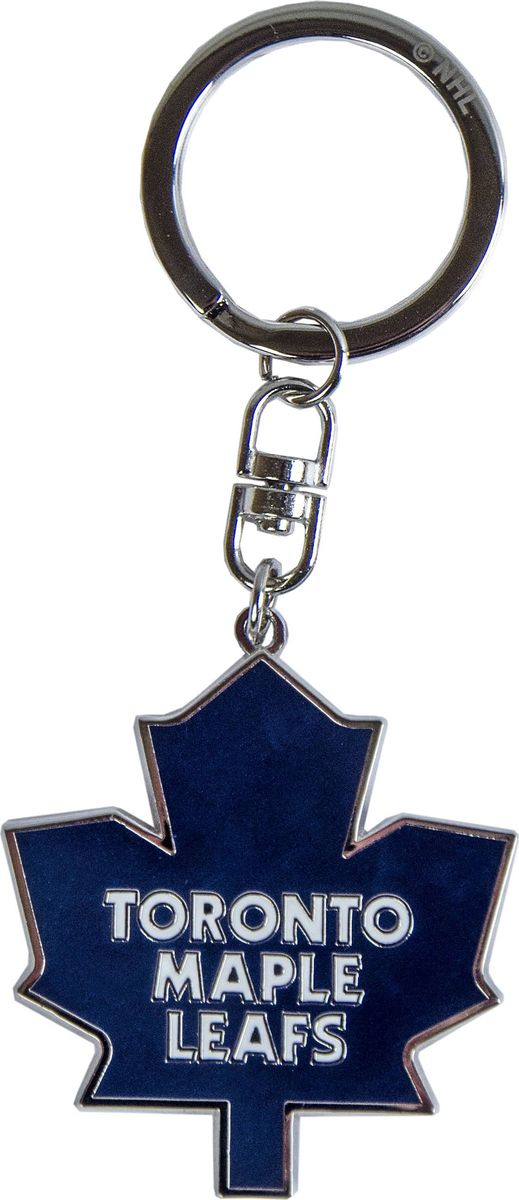 Брелок Atributika & Club Toronto Maple Leafs, цвет: синий, белый. 5500355004Брелок Atributika & Club выполнен из металла в виде символики вашего любимого клуба. Брелок дополнен небольшой цепочкой и заводным кольцом. Длина: 4,5 см.