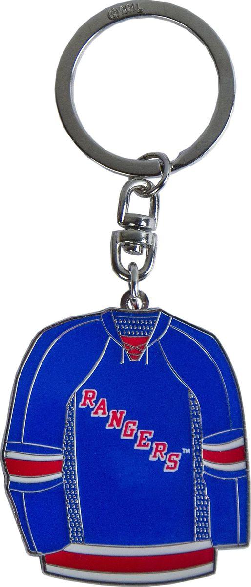 Брелок Atributika & Club New York Rangers, цвет: синий, белый. 5501255005Брелок Atributika & Club выполнен из металла в виде символики вашего любимого клуба. Брелок дополнен небольшой цепочкой и заводным кольцом. Длина: 4,5 см.