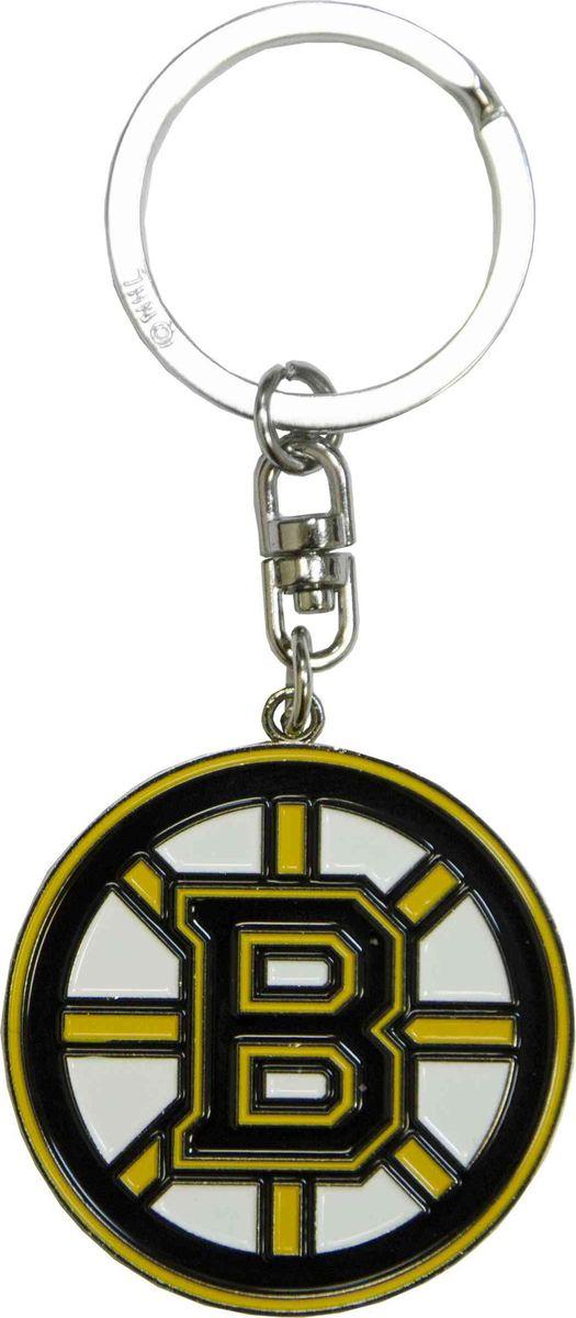 Брелок Atributika & Club Boston Bruins, цвет: черный, желтый. 55016322020Брелок Atributika & Club выполнен из металла в виде символики вашего любимого клуба. Брелок дополнен небольшой цепочкой и заводным кольцом. Длина: 4,5 см.