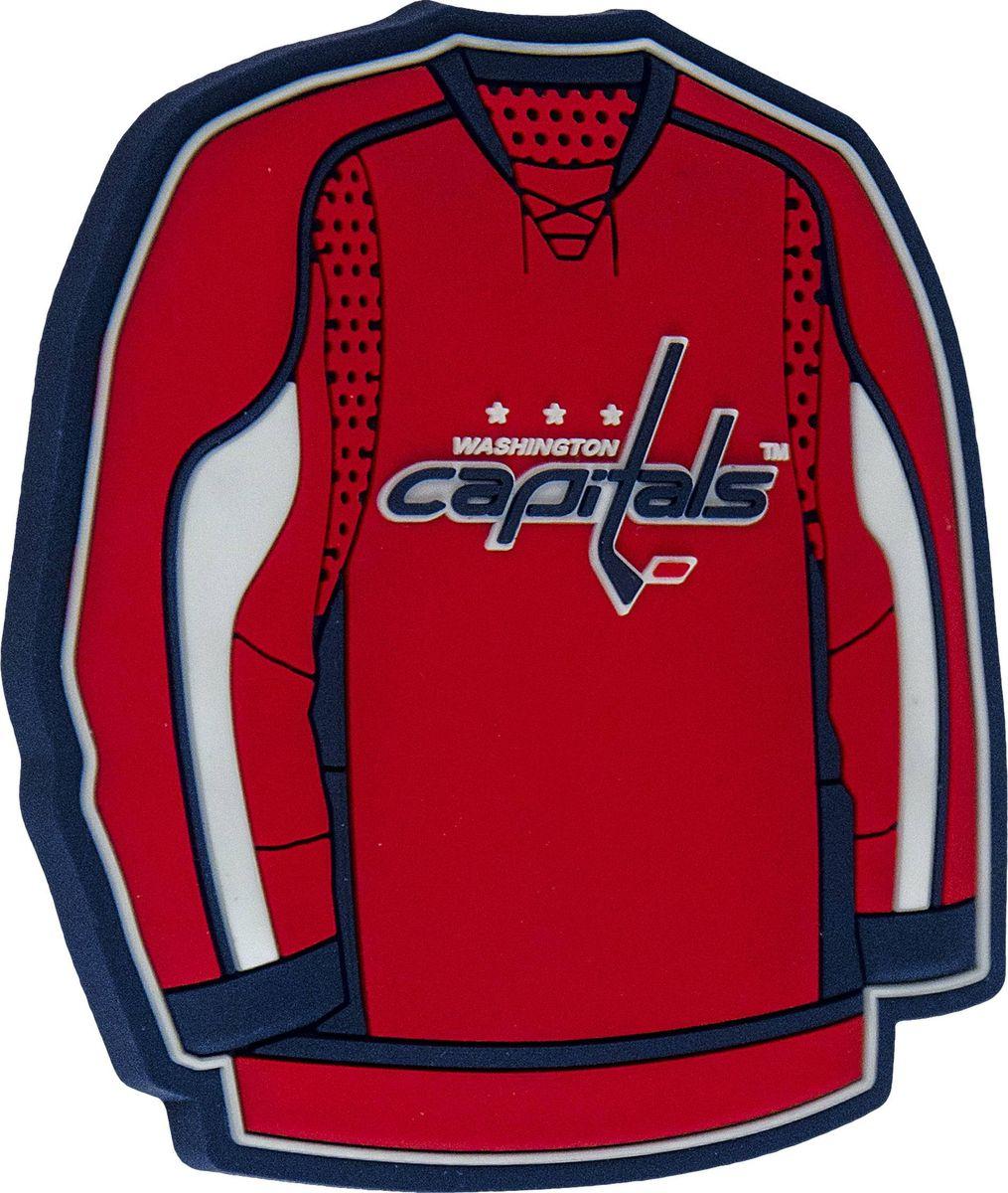Магнит Atributika & Club Washington Capitals, цвет: красный. 56007322020Магнит Atributika & Club выполнен из полимерного материала в виде символики вашего любимого клуба.Длина: 8 см.