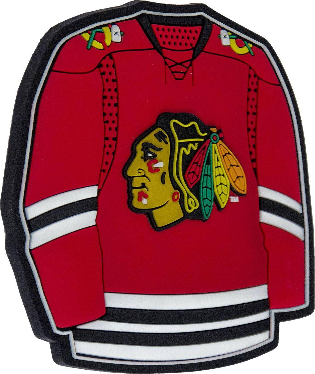 Магнит Atributika & Club Chicago Blackhawks, цвет: красный. 56008322020Магнит Atributika & Club выполнен из полимерного материала в виде символики вашего любимого клуба.Длина: 8 см.