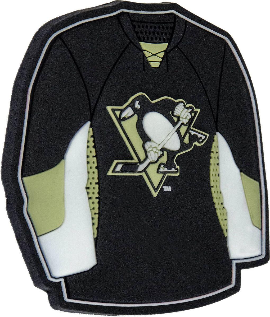 Магнит Atributika & Club Pittsburgh Penguins, цвет: черный, серый. 5601155015Магнит Atributika & Club выполнен из полимерного материала в виде символики вашего любимого клуба.Длина: 8 см.