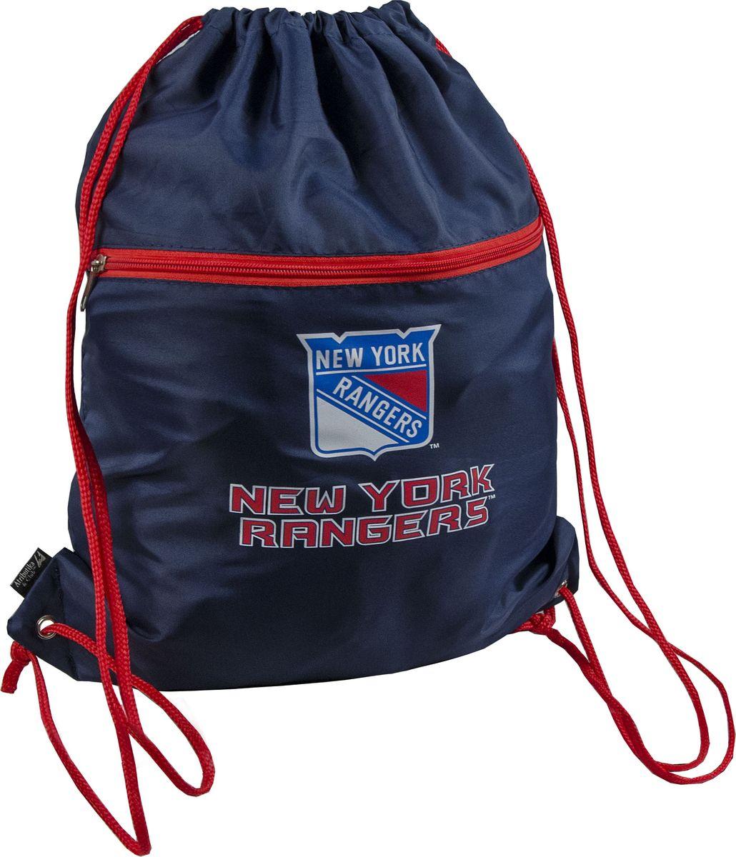 Мешок универсальный Atributika & Club New York Rangers, цвет: синий, красный, 20 л. 5802658012Мешок Atributika & Club выполнен из 100% полиэстера. Он выполняет функции рюкзака, благодаря плечевым лямкам, которые надежно фиксируют изделие у его верхнего основания. Мешок с вышитым логотипом клуба отлично подойдет для сменной обуви или для прочих аксессуаров. Мешок имеет 2 отделения, одно из которых закрывается на молнию.