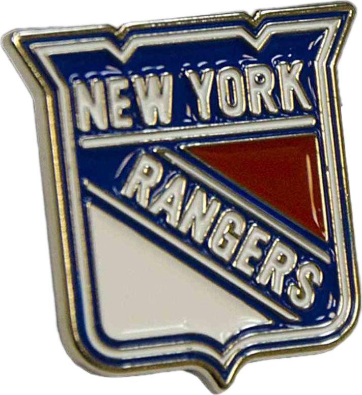 Значок Atributika & Club New York Rangers, цвет: синий, красный. 61004322020Значок Atributika & Club выполнен из металла в виде символики вашего любимого клуба. Значок дополнен застежкой цанга-бабочка. Застежка представляет собой диск, который фиксируется на гвозде за счет фиксатора. Длина: 2 см.