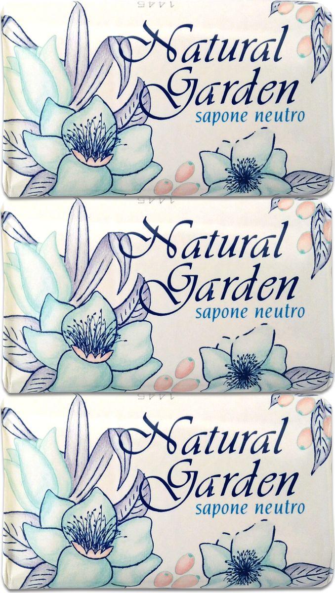 Nesti Dante Набор мыла Natural Garden Neutro Природный сад, 3 х 125 г