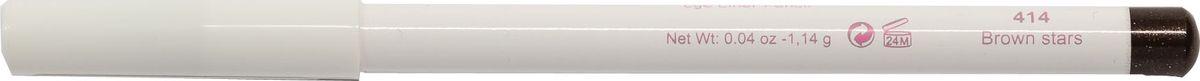 Cherie Ma Cherie Карандаш для глаз Soft Silk №414MSS 5562weis 2 in 1Мягкая текстура карандаша для глаз Soft SILK легко и приятно наносится на нежную кожу век. Уникальный состав на основе масел. Абсолютно гипоаллергенен. Он легко растушевывается, оставляя на веках насыщенный ровный цвет