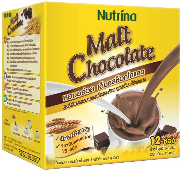 Nutrina Instant Malt Chocolate напиток растворимый Тающий шоколад, 240 г