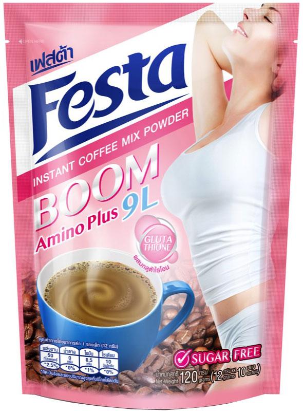 Festa Coffee Boom растворимый кофейный напиток тонизирующий, 120 г