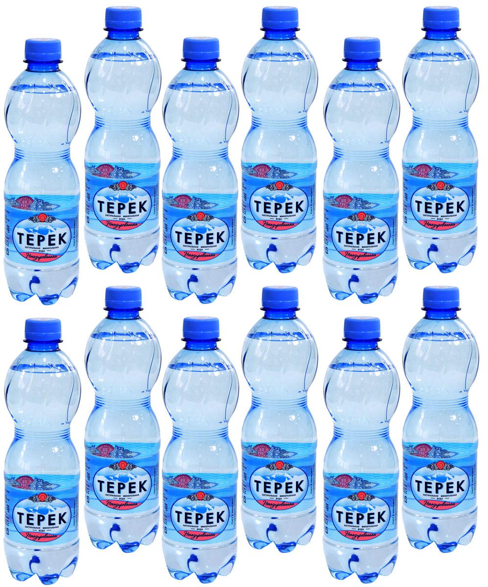 Терек вода минеральная негазированная, 12 шт по 0,5 л232-01Натуральная минеральная столовая вода имеет природное происхождение. По микроэлементному составу полностью идентична хлоридно-гидрокарбонатным минеральным водам Кавказа. Рекомендована к регулярному использованию для питья и приготовления пищи. Не содержит каких либо вредных и токсичных элементов, способствует очищению организма от шлаков, улучшает обмен веществ, повышает иммунитет. Скважина № 81214, глубина 260 метров.