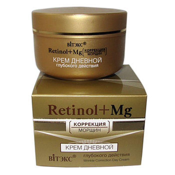 Витэкс Retinol+MG коррекция морщин Крем дневной глубокого действия, 45 млV-223Назначение: Интенсивный уход, Антивозрастной уходЛиния: Retinol+MgКрем предназначен для улучшения микрорельефа кожи, повышения ее упругости и эластичности, разглаживания морщин. Благодаря активным компонентам, крем действует не только в верхних, но и в глубоких слоях кожи, что способствует выталкиванию морщин изнутри и предупреждает их появление. НЕ СОДЕРЖИТ КРАСИТЕЛЕЙ!