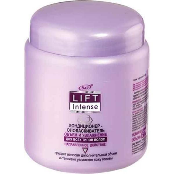Витэкс Lift Intense Кондиционер-ополаскиватель Объем и Увлажнение для всех типов волос, 450 млV-326Назначение: Объем, Все типы волосЛиния: Lift IntenseЛегкий кондиционер — ополаскиватель дополняет действие шампуня и интенсивно увлажняет кожу головы. Содержит гиалуроновую кислоту и имбирь, которые питают, увлажняют и укрепляют волосы. Кондиционер-ополаскиватель придает волосам роскошный объем и блеск, облегчает расчесывание и укладку волос.Результат: волосы приобретают роскошный вид, улучшает их блеск и эластичность.