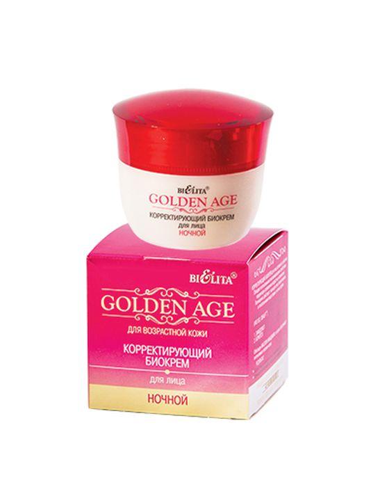 Белита Корректирующий биокрем для лица Ночной Golden Age, 50 млВ-1131Линия: GOLDEN AGEКорректирующий биокрем для лица активного действия обладает интенсивным омолаживающим действием, корректируя проявление возрастных изменений. Интенсивно действует и насыщает кожу биоактивными и питательными веществами в ночное время.Входящие в состав активные компоненты (IRIS ISO, IDEALIFTТМ) интенсивно действуют в 2-х векторном направлении:1. Замедляют скорость возрастных изменений кожи лица.2. Борются с нарушениями контура лица и глубокими морщинами.Масло Макадамии оказывает регенерирующее, увлажняющее, смягчающее действие на кожу, замедляет процессы старения, способствуя омоложению.Результат:Возрастные изменения приостанавливаются.Улучшается внешний вид кожи, подтягивается овал лица.