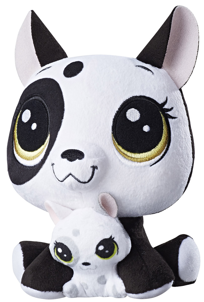 Littlest Pet Shop Мягкая игрушка Bullena & Scamper Doghouser 16 см - Мягкие игрушки