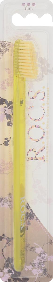 R.O.C.S. Зубная щетка классическая, жесткая, цвет: желтыйSC-FM20104Зубная щетка R.O.C.S. Классическая разработана при участии стоматологов. Нетрадиционная скошенная подстрижка щетины обеспечивает:Эффективную чистку: качественное удаление зубного налета и поверхностных окрашиваний;Высокое качество очистки труднодоступных участков зубного ряда;Легкий доступ к дальним зубам. Тонкая ручка предотвращает излишнее давление при чистке. Высококачественная щетина имеет закругленные и отполированные на концах текстурированные щетинки, которые обеспечивают быстрое и интенсивное очищение благодаря увеличенной очищающей поверхности и особенностям аквадинамики волокна.Товар сертифицирован.