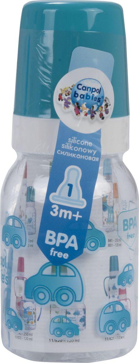 Canpol Babies Бутылочка с силиконовой соской от 3 месяцев цвет бирюзовый 120 мл