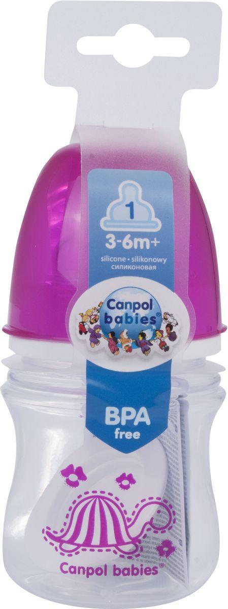 Canpol Babies Бутылочка антиколиковая Colourful Animals от 3 месяцев цвет красный 120 мл