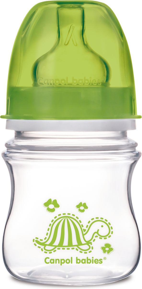 Canpol Babies Бутылочка антиколиковая Colourful Animals от 3 месяцев цвет зеленый 120 мл