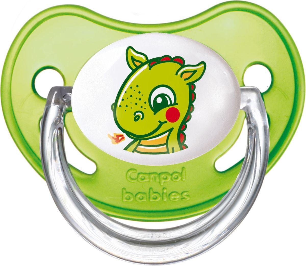 Canpol Babies Пустышка латексная ортодонтическая Fairy Tale от 0 до 6 месяцев цвет зеленый