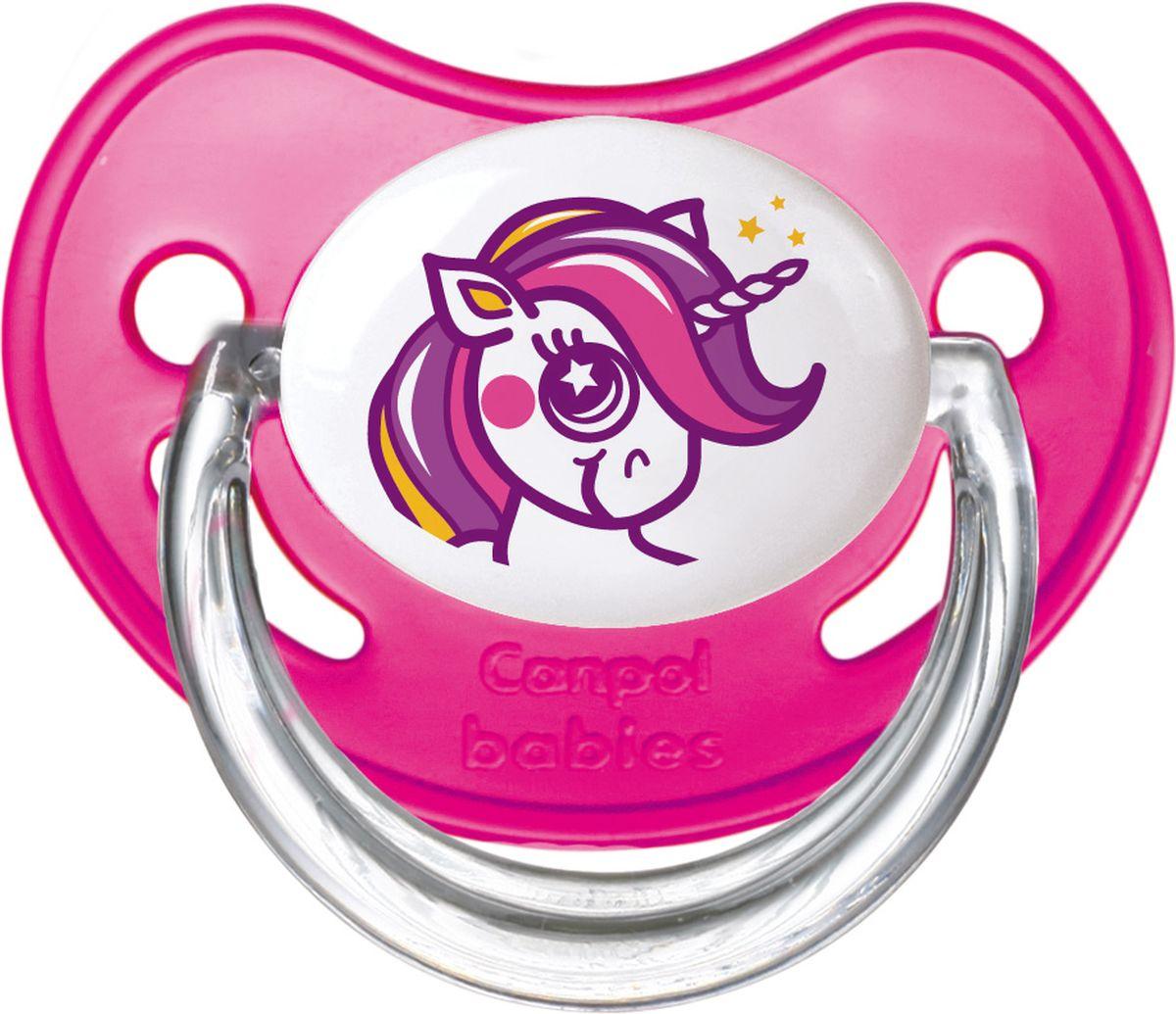 Canpol Babies Пустышка латексная ортодонтическая Fairy Tale от 6 до 18 месяцев цвет розовый