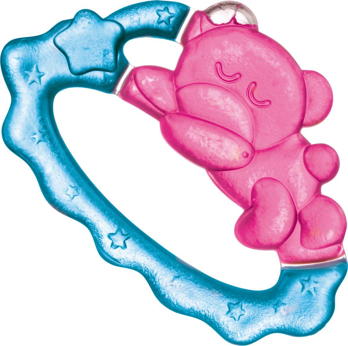 Canpol Babies Прорезыватель охлаждающий Спящий медвежонок цвет розовый
